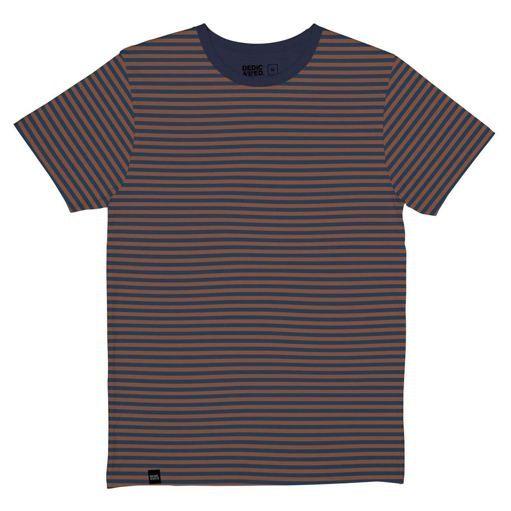 Dedicated Dedicated, Stockholm Stripes, mocha brown, M