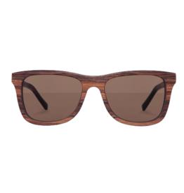 Kerbholz Kerbholz, Sonnenbrille, Justus, Zebranoholz, solid brown