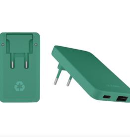 Le Cord LeCord, Recharger Dual Plug, green