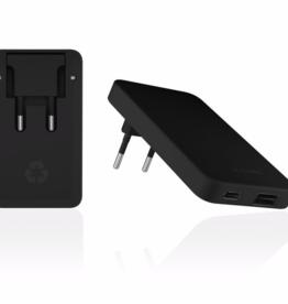 Le Cord LeCord, Recharger Dual Plug, black