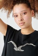 Cleptomanicx Cleptomanicx, T-Shirt, scribble Möwe 3, black, S