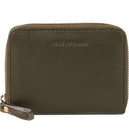 Lost & Found Accessories Lost & found, kleines Reissverschluss Portemonnaie, olive