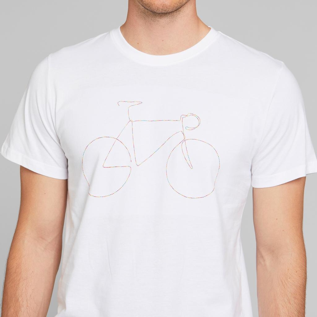 Dedicated Dedicated, Stockholm Rainbow Bicycle, white, L