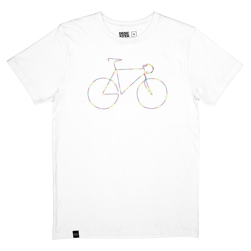 Dedicated Dedicated, Stockholm Rainbow Bicycle, white, XL