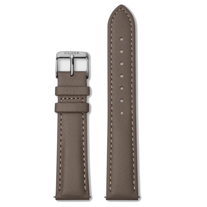 Cluse Cluse, Boho Chic, Strap (18mm), taupe/ silver