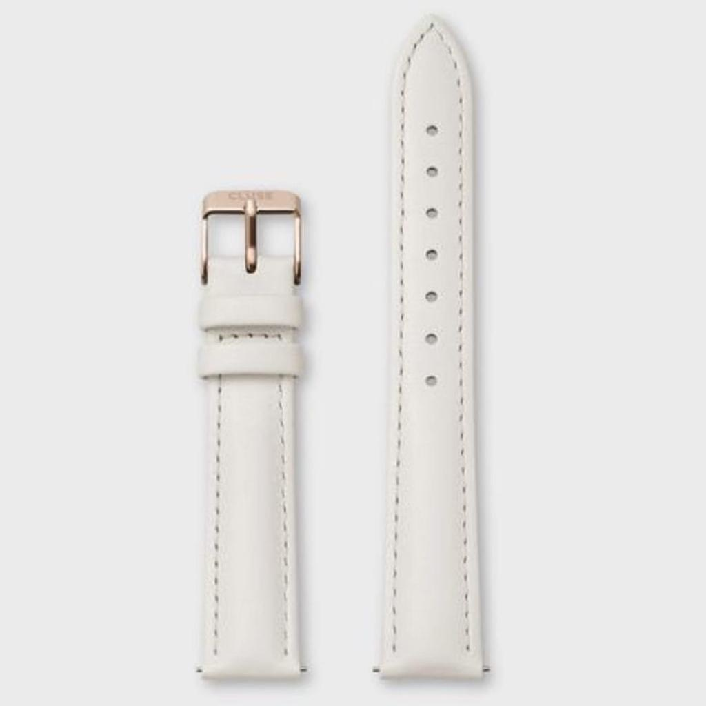 Cluse Cluse, Minuit Strap (16mm), offwhite/ rosegold