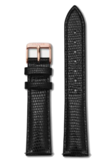 Cluse Cluse, Minuit Strap (16mm), black/ rosegold