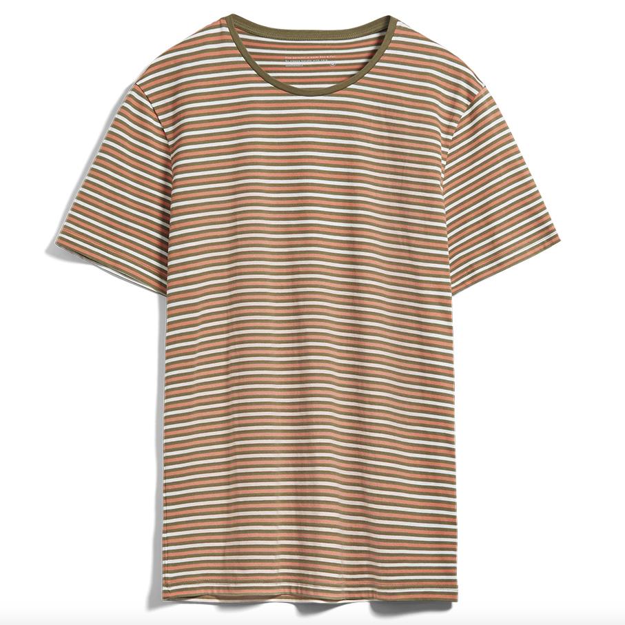 armedangels Armedangels, Jaagoo stripes, burnt olive-sobert-off white, XL