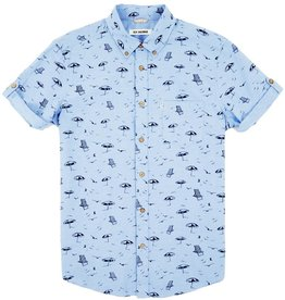 Ben Sherman Ben Sherman, SS, beach print, washed blue, XL