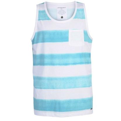 armedangels Armedangels, Casper Aqua Stripes Tank, Aqua blue, M