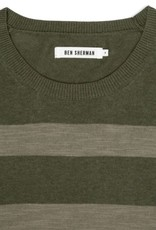 Ben Sherman, Stripe Crew Neck, Four Leaf Clover Marl, XL