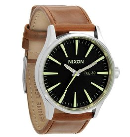 Nixon Nixon, Sentry Leather, Black/Brown