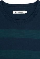 Ben Sherman, Stripe Crew Neck, Blue Depths Marl, XL