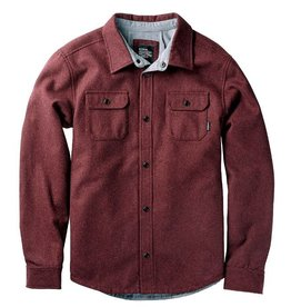 Nixon NIXON, Corporal Wool Jacket, Burgundy Heather, XL