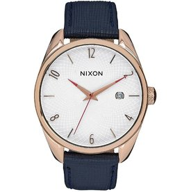 Nixon NIXON, Bullet Leather, All Rose Gold / navy
