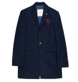Ben Sherman, Covert Coat, Navy Blazer, M