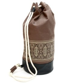 Alessandro Magnani, Sailorbag, IKAT, brown nature/black