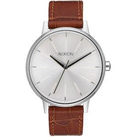 Nixon Nixon, Kensington Leather, silver/saddle gator
