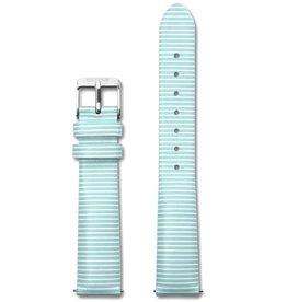 Cluse Cluse, Minuit Strap, sky blue stripes/silver