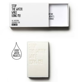 Stop the water while using me STOP THE WATER, Cucumber Lime Bar Soap, 125g