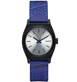 Nixon NIXON, Small Time Teller Leather, Black / blue gator