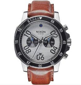 Nixon NIXON, Ranger Chrono Leather, Silver/Saddle