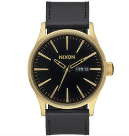 Nixon Nixon, Sentry Leather, gold / black