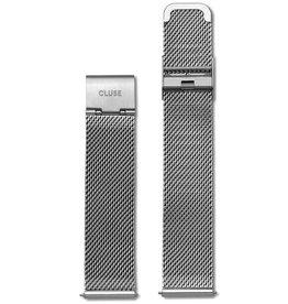 Cluse Cluse, Minuit Mesh Strap (16mm), silver