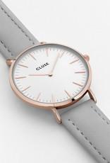 Cluse Cluse, Boho Chic Leather, rose gold white/grey