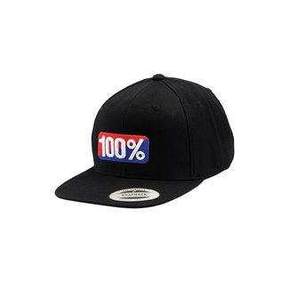 100% 100% CLASSIC SNAPBACK HAT black L/XL