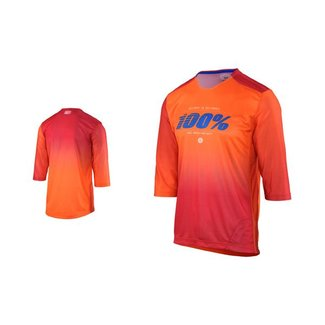 100% 100% AIRMATIC BLAZE ENDURO/TRAIL 3/4 JERSEY orange Large