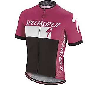 Specialized RBX COMP LOGO JERSEY SS MAGENT / WHI / BLK XL