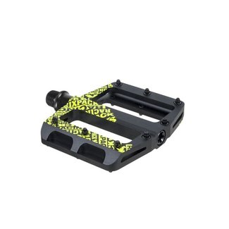 SIXPACK-RACING SIXPACK pedals Icon mini stealth-black / neon-yellow