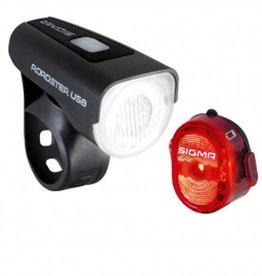 SIGMA SPORT LED Lampe Roadster USB K-Set<br /> ROADSTER+ NUGGET USB + Micro USB Kabel