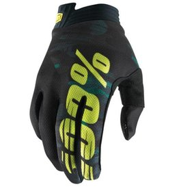 100% 100% ITRACK GLOVE Medium camo black green