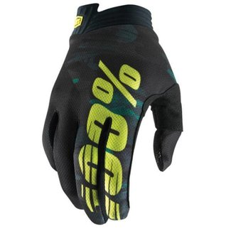 100% 100% ITRACK GLOVE Large camo black green