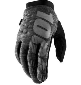 100% 100% BRISKER COLD WEATHER GLOVE XLarge black charcoal
