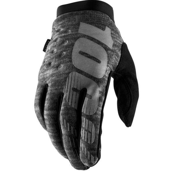 100% 100% BRISKER COLD WEATHER GLOVE XXLarge black charcoal