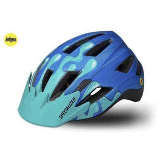 Specialized SHUFFLE LED SB HLMT MIPS CE NEON BLU/ACDMNT SLIME YTH