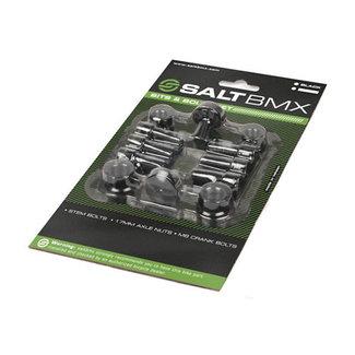 Salt Schraubenset schwarz, 6 x Vorbau, 2 x 14mm, 2 x 9.5mm, 2 Venti,