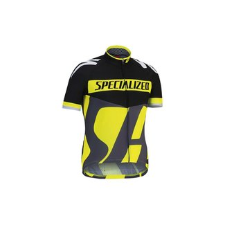 Specialized SPECIALIZED KID PRO RACING JERSEY SS BLK/GRY/YEL S