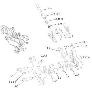 AVID XX/X0/Code Pad Pin Kit, Black, Aluminum