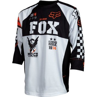 FOX Covert 3/4 Jersey white /orange XL