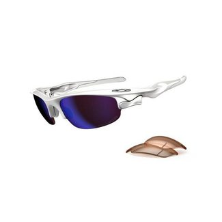 OAKLEY FAST JACKET polished white / G30 VR50 POLARIZED