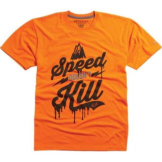 FOX SPEED WOBBLE TECH TEE HTR FLO ORANGE Large
