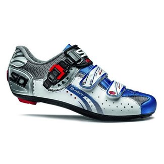 SIDI GENIUS 5 FIT CARBON STEEL/WHITE/BLUE GR.  43