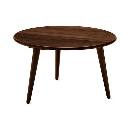 CH008三腳實心胡桃木咖啡桌