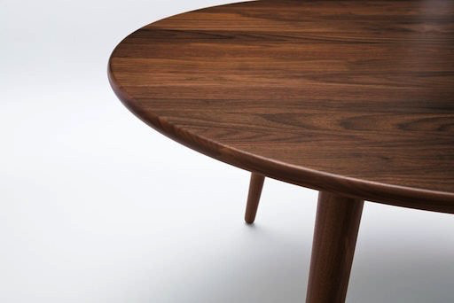 CH008 THREE-LEGGED COFFEE TABLE IN SOLID WALNUT