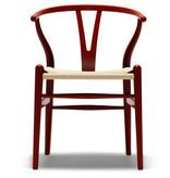 CH24紅色漆油榉木叉骨餐椅