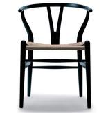 CH24黑色油漆榉木叉骨餐椅